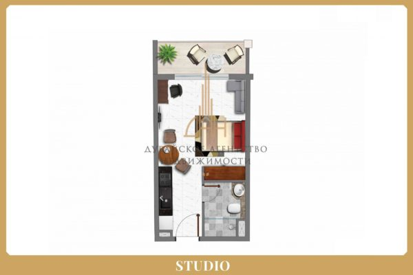 Квартира-студия в Арджан с гарантированным доходом 8% в год