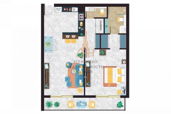 Готовые апартаменты с 1 спальней с гарантией дохода 8% годовых