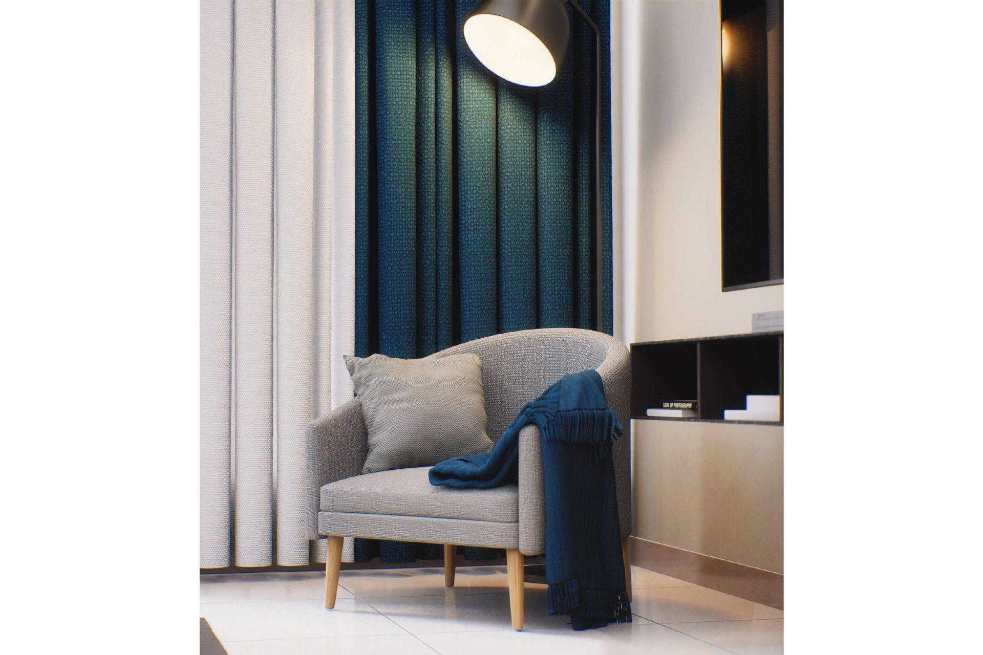 Квартира-студия с мебелью в Golf Views Seven City