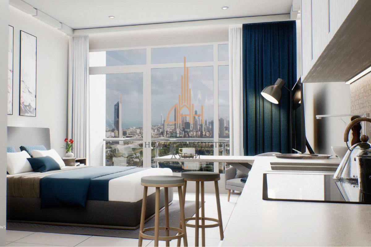 (Русский) Квартира-студия с мебелью в Golf Views Seven City