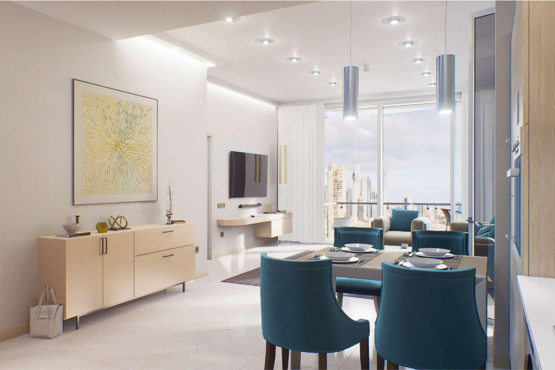 Апартаменты с 1 спальней и мебелью в Golf Views Seven City