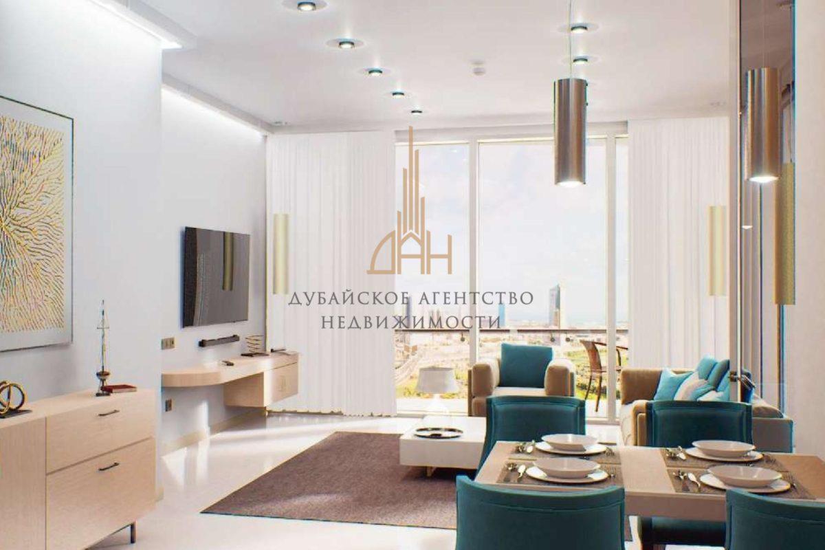 (Русский) Апартаменты с 1 спальней и мебелью в Golf Views Seven City