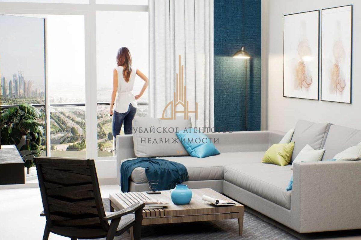 (Русский) Меблированные апартаменты с 2 спальнями и мебелью в Golf Views Seven City