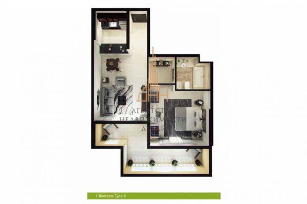 Готовые апартаменты с 1 спальней в Royal Breeze 1 BR с большим балконом (вторичное жилье)