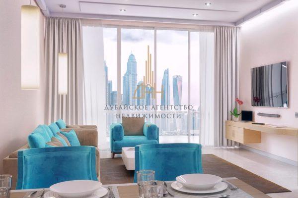 Апартаменты с 2 спальнями, полностью меблированы в Seven Palm (Дубай)