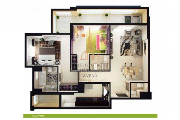 Готовые апартаменты с 2 спальнями в Royal Breeze 2 BR (вторичное жилье)