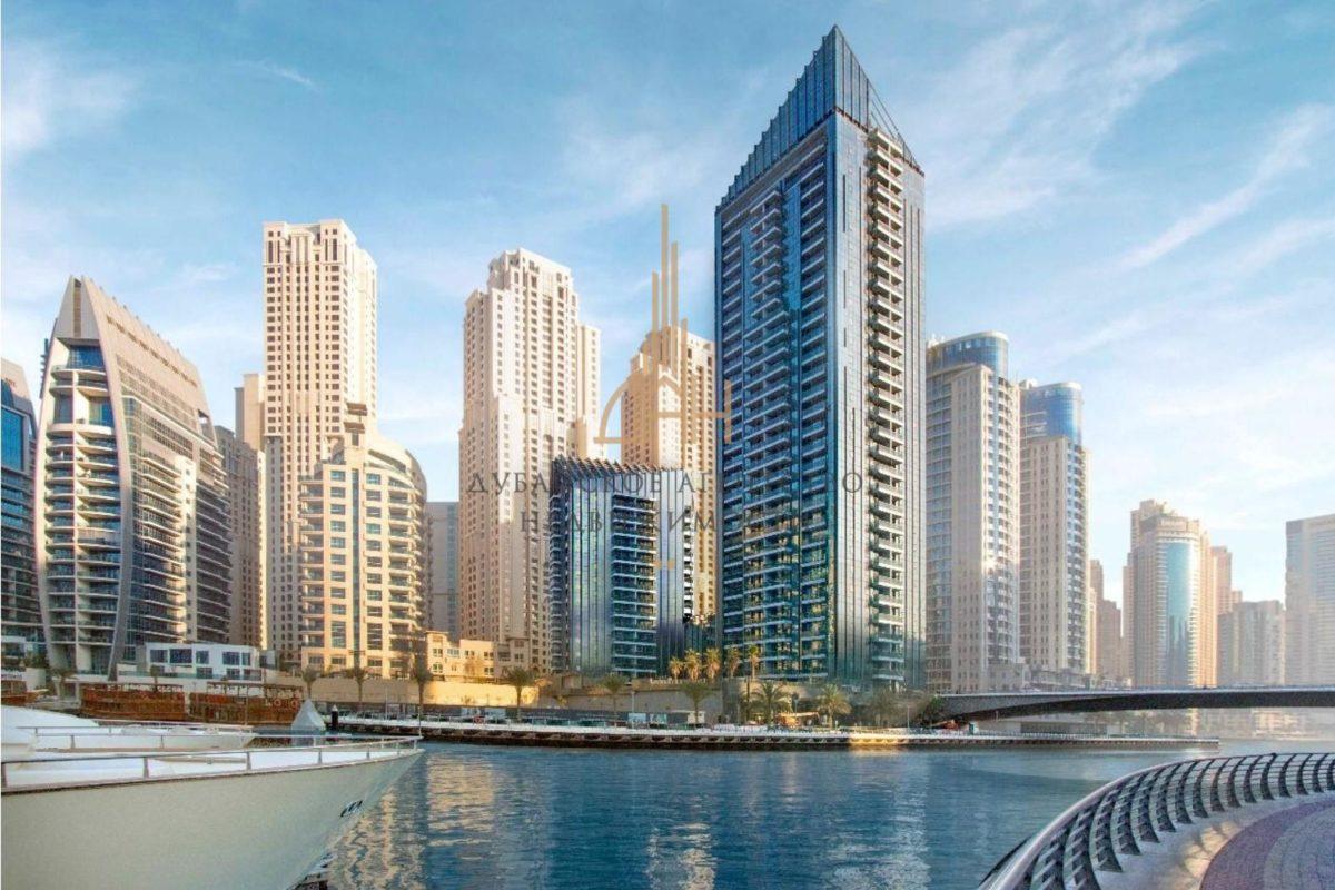 Апартаменты с 1 спальней с видом на JBR в Sparkle Towers (Dubai Marina)
