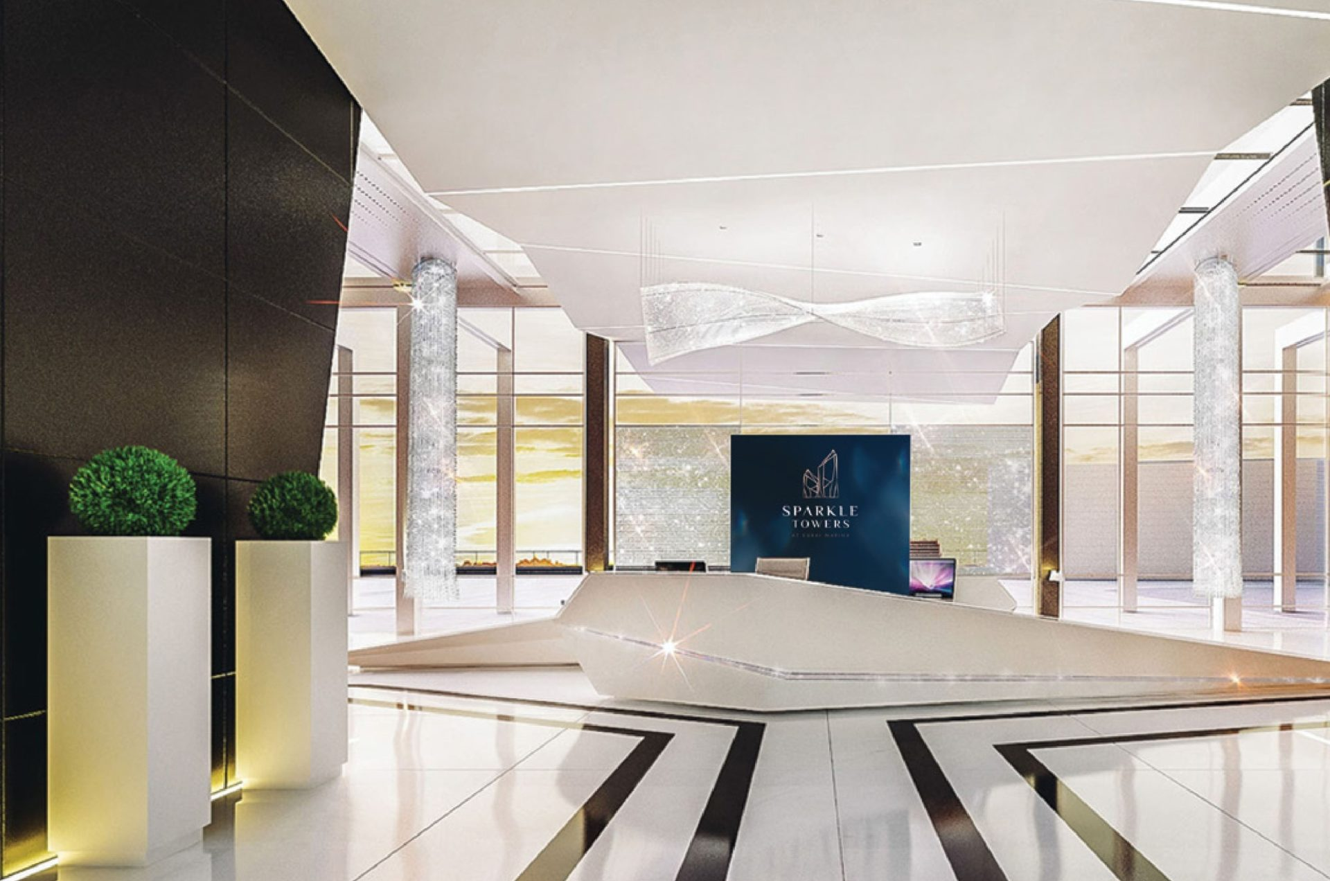 Пентхаус с 4 спальнями и с видом на Marina в Sparkle Towers (Dubai Marina)