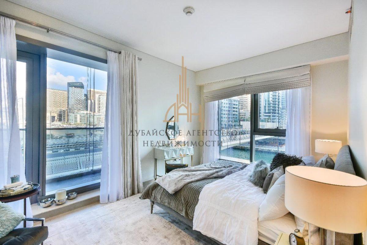 Апартаменты с 2 спальнями и комнатой для прислуги с видом на бассейн и на Marina в Sparkle Towers (Dubai Marina)
