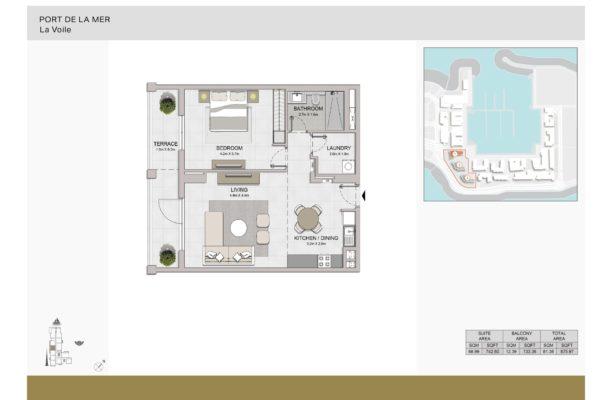 Апартаменты с 1 спальней на берегу моря в самом сердце Джумейры