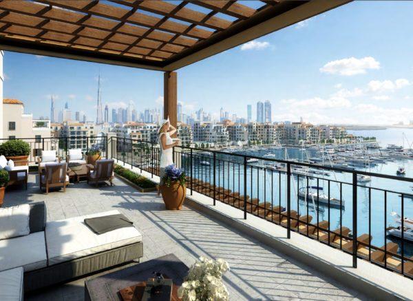 (Русский) Апартаменты La Rive с 1 спальнями на берегу моря в Port de La Mer | Jumeirah