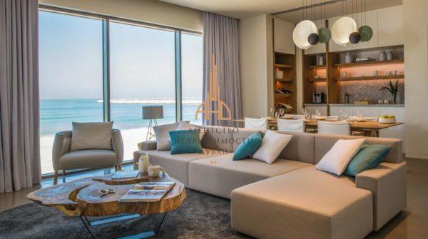 Апартаменты с 2 спальнями и гостиной Nikki Beach Residences с собственным пляжем