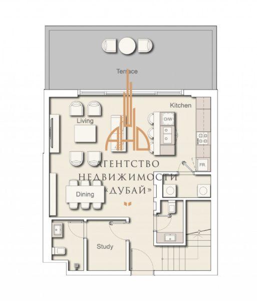 Таунхаус с 2 спальнями в новом центре Дубая — Belgravia 3