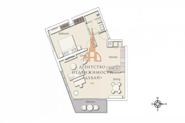 Квартира-студия в новом центре Дубая — Belgravia 3 | Дубай