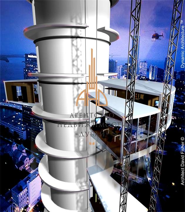 Вращающийся силой ветра небоскреб могут построить в Дубае