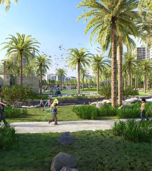 Апартаменты с 2 спальнями и гостиной в Executive Residences II   Dubai Hills Estate