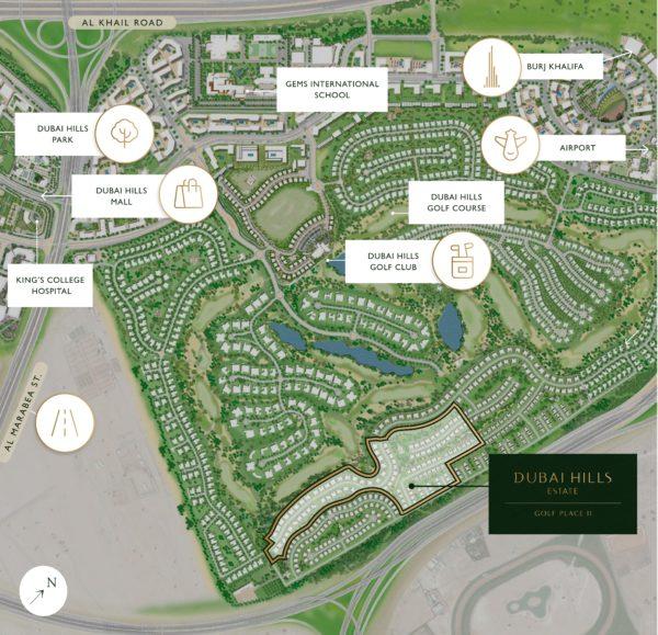 Вилла с 4 спальнями и гостиной в Golf Place II | Dubai Hills Estate