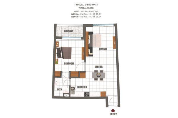 Апартаменты с 1 спальней и гостиной в Wavez Residence с рассрочкой на 5 лет (Дубай)