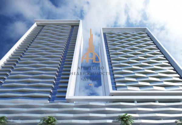 Апартаменты с 1 спальней и гостиной в Bloom Heights   Дубай