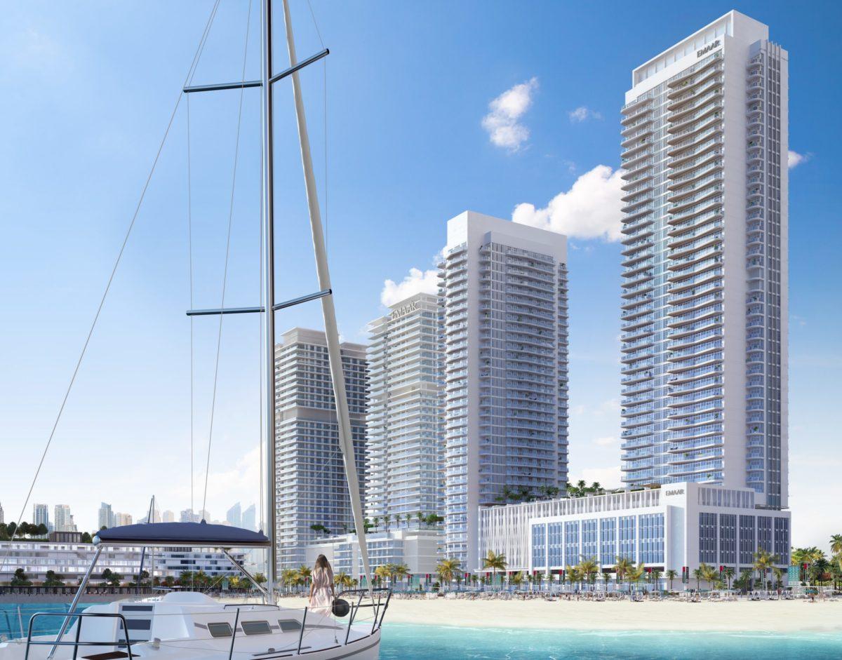 Апартаменты с гостиной и 2 спальнями в MARINA VISTA (Beach front EMAAR)| Дубай