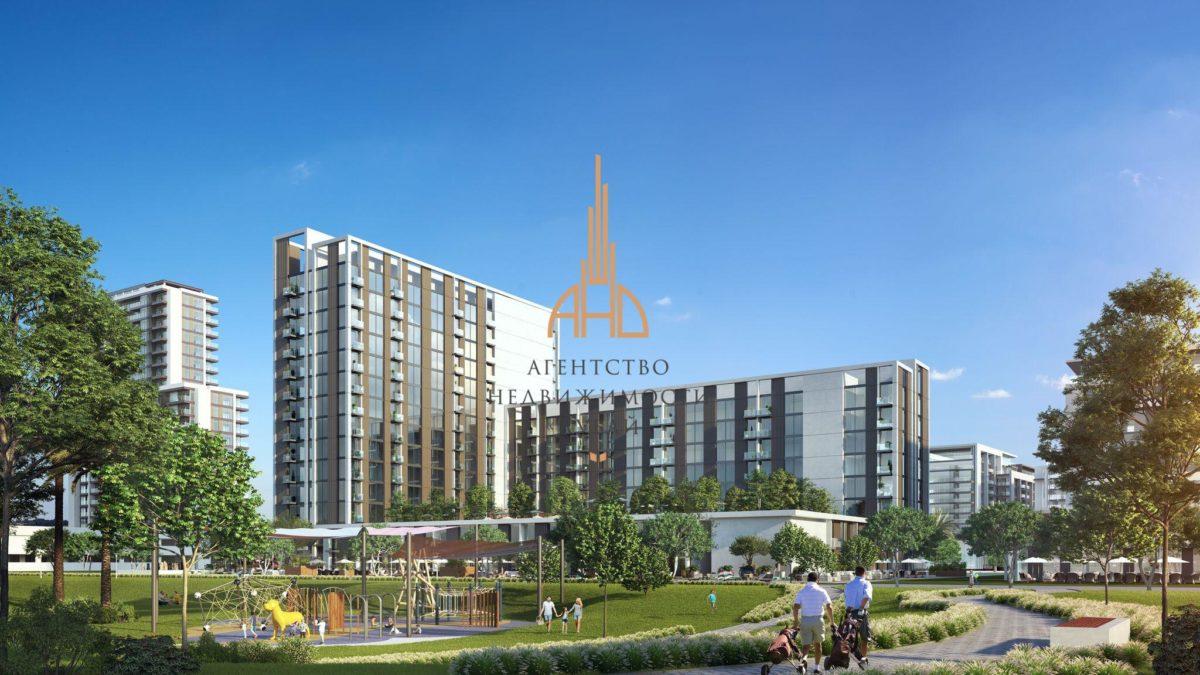 Апартаменты с гостиной и 2 спальнями в Golfville (EMAAR Dubai Hills)   Дубай