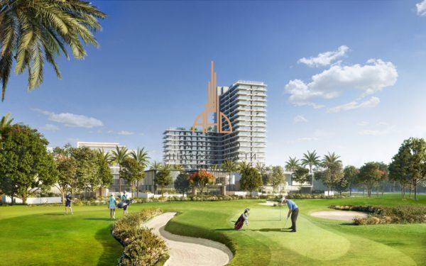 (Русский) Апартаменты с гостиной и 1 спальней в GOLF SUITES (EMAAR Dubai Hills)   Дубай