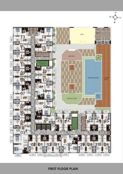 Квартира с 2 спальнями и гостиной с рассрочкой на 5 лет в ELZ