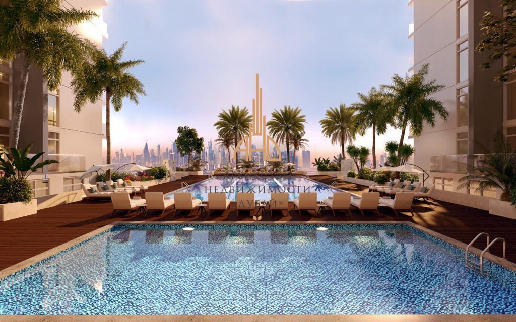 Апартаменты с гостиной и 2 спальнями в Creek Vistas Reservé   Дубай