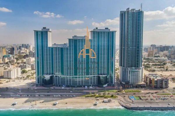 Квартира с 1 спальней и гостиной (вторичное жилье) Corniche Tower (вид на город)| Ajman