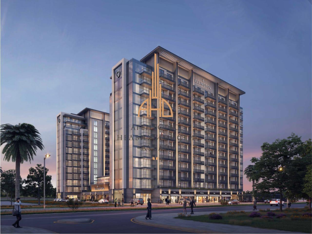 Апартаменты с 1 спальней и с гостиной в Kensington Waters (Ellington Properties)  Дубай