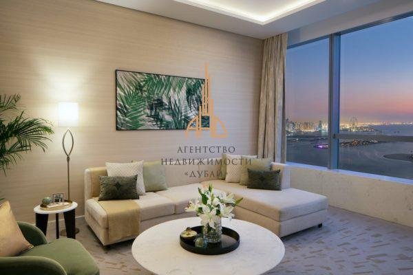 Меблированная студия в THE PALM TOWER   Palm Jumeirah
