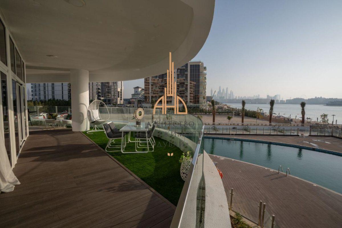 Пентхаус с 3 спальнями и гостиной, готовый к заселению в MINA AZIZI | The Palm Jumeirah