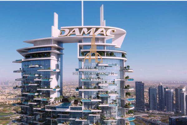 (Русский) 1 комнатная квартира с видом на море  Сavalli Tower  ОАЭ, Дубай.