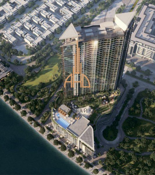 (Русский) 1 комнатная квартира с видом на набережную Waves Grande  Sobha  Дубай, ОАЭ.